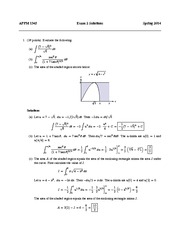 APPM 1345 Exam 2 Solutions