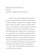 "Journal- ""Three Essays on the theory of sexuality"""