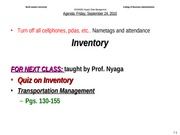 Bobs Class INVENTORY Friday 9-24