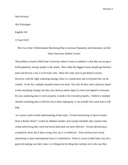 Writing Project 4 - Informative Essay Rough Draft
