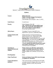 N2010 Human Development Syllabus Sec 15  2013