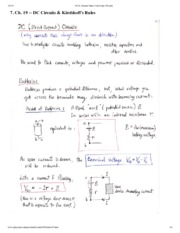 DC Circuits Notes