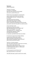 18 szymborska TRUE LOVE.doc