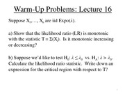 Lecture 16 Review Problems