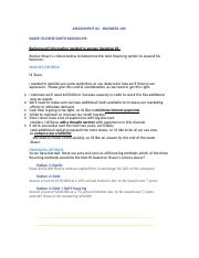Assignment 2 Template Special with Hints.docx