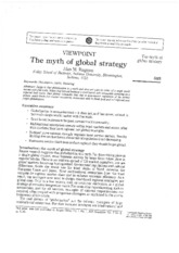 The Myth of Global Strategy