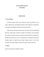 Doc Makalah Demokrasi Indonesi Kopral Jontit Academia Edu