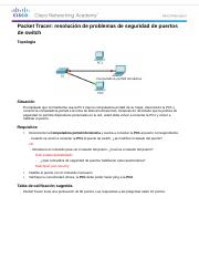 2.2.4.10 Packet Tracer - Troubleshooting Switch Port Security Instructions