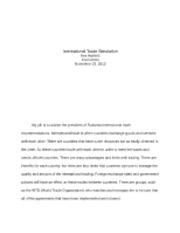 economics week 8 international trade simulation Unformatted text preview: international trade simulation international trade simulation xeco/212 – principles of economics instructor: james nzokah week 8.