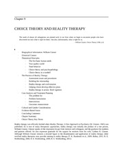 Choice Theory Reality Therapy Chapter