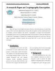 A research Paper on Cryptography Encryption.docx