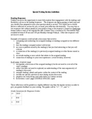 Special Writing Section guidelines 020310