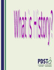 What is history.ppt