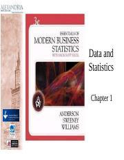 Chapter 01 Data and Statistics_1