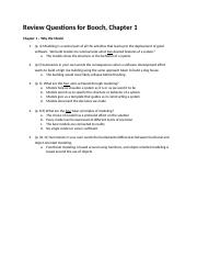 Review Questions - Booch - Chapter 1.docx