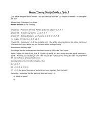Game Theory Study Guide quiz 3