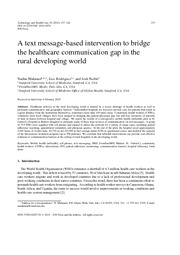 A text message-based intervention to bridge the healthcare communication gap in the rural developi