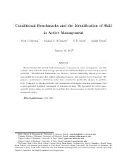 Conditional Benchmarks and the Identification of Skill in Active Management.pdf