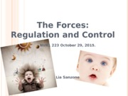 2015. 223 students. The forces-Regulation & Control