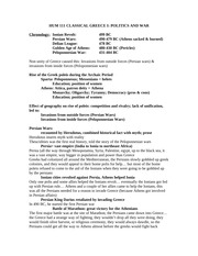 TA Notes- Greece I and II