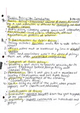 Notes, Overview of Public Policy