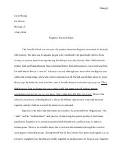 Eugenics Research Paper
