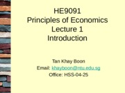 HE9091 Lecture 1