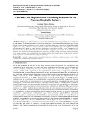 Creativity and Organizational Citizenship Behaviour in the Nigerian Hospitality Industry.pdf