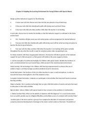 Chapter 8 Module - Adapting the learning environment for young children with special needs