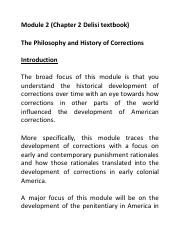Module 2 Chapter 2 The Philosophy and History of Corrections.pdf