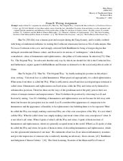 ASIA3127 History of Traditional China - Exam II (Writing Portion).docx