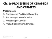 Topic15_Processing of Ceramics and Cermets