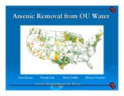 ARSENIC REMOVAL FROM OU WATER-POWERPOINT