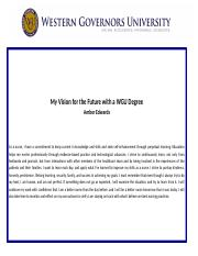 Vision Statement docx - My Vision for the Future with a WGU Degree