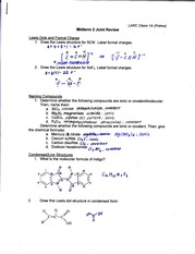 Chem 1A Midterm 2 Review