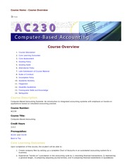 Class Note: Full Course Overview AC230