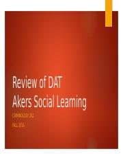 12- DAT Review & Akers