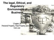 Chapter 24- Personal Property, Real Property and Land Use Law(1)