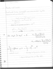 Chemistry 231 Acid and Bases Notes