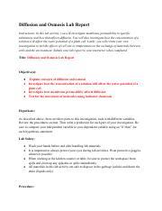 2.06 Diffusion and Osmosis Lab Report.pdf - Diffusion and ...