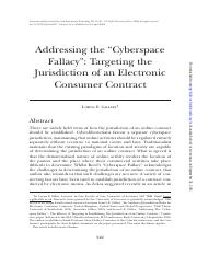 Addressing the Cyberspace Fallacy