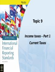 Topic 9 - Income Taxes - Part 1(1)