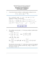 ENGI 4430 Problem Set 5 Solutions