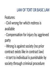 LAW OF TORT.ppt