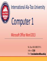 Computer Week 3 Intro to MS Word.pdf