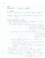 Chapter 1 Notes - Earth in Context
