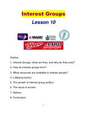 Poli Sci Lesson 10 Interest Groups.pdf