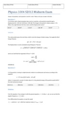 Physics 1004 S2013 Midterm Exam Solutions