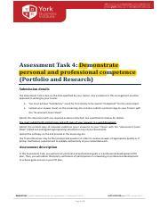 bsbmgt605b assessment task 4 assessment task 4 demonstrate