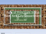 Role of Principals in NYCDOE